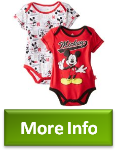 7c4c518fb Uncovered Disney Baby BabyBoys Newborn Mickey Mouse 2 Pack Bodysuit, Red,  03 Months